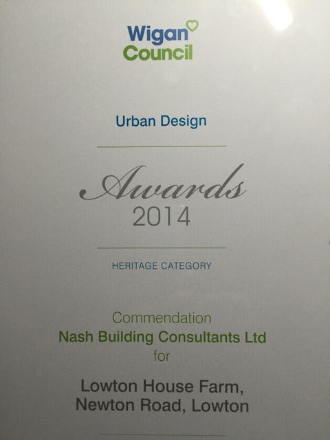 Urban Design Awards (Heritage Category) 2014